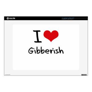 I Love Gibberish Laptop Decal