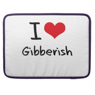 I Love Gibberish MacBook Pro Sleeves