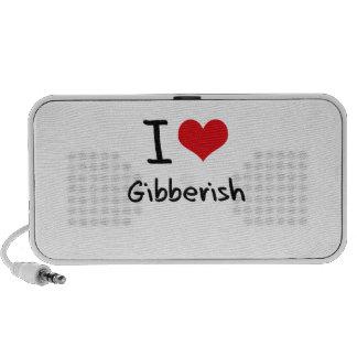 I Love Gibberish Portable Speakers
