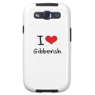 I Love Gibberish Samsung Galaxy S3 Case