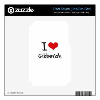 I Love Gibberish Skin For iPod Touch 2G