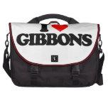 I LOVE GIBBONS COMPUTER BAG