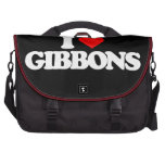 I LOVE GIBBONS LAPTOP BAG