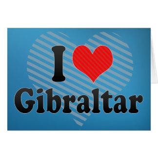 I Love Gibraltar Greeting Card