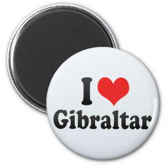 I Love Gibraltar 2 Inch Round Magnet