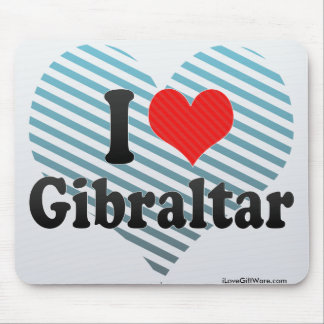 I Love Gibraltar Mouse Pad