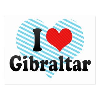 I Love Gibraltar Postcard