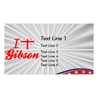 I Love Gibson, Georgia Business Card Templates