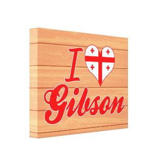 I Love Gibson, Georgia Stretched Canvas Print