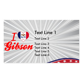 I Love Gibson, Iowa Business Card Template