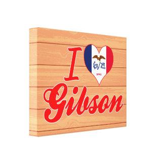 I Love Gibson, Iowa Canvas Print