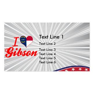 I Love Gibson, North Carolina Business Card Templates