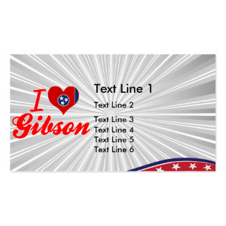 I Love Gibson, Tennessee Business Card Template