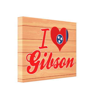 I Love Gibson, Tennessee Canvas Prints