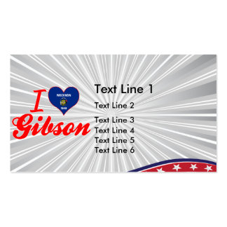 I Love Gibson, Wisconsin Business Card Templates