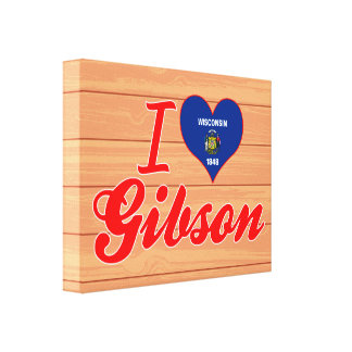 I Love Gibson, Wisconsin Stretched Canvas Prints