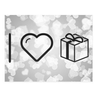 I Love Gift Bonuses Postcard