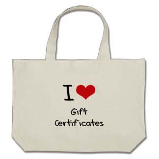 I Love Gift Certificates Canvas Bags