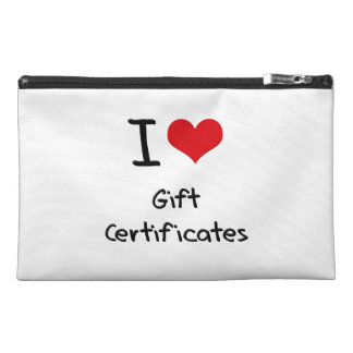 I Love Gift Certificates Travel Accessories Bag