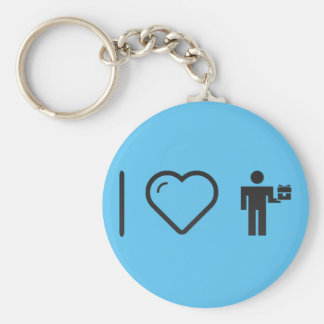 I Love Giftbox Deliveries Basic Round Button Keychain