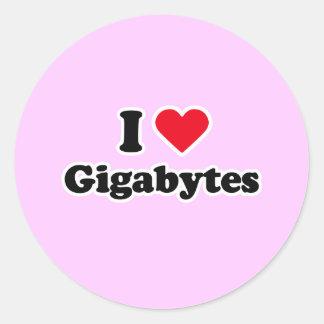 I love gigabytes stickers