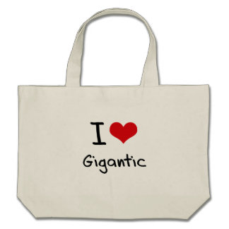 I Love Gigantic Canvas Bag