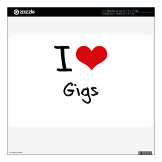 I Love Gigs Skins For MacBook