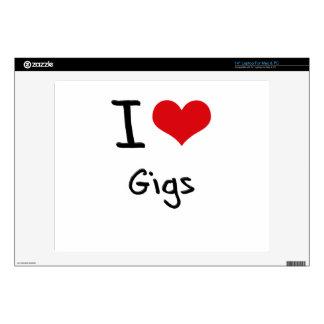 I Love Gigs Skins For Laptops