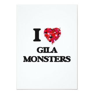 I love Gila Monsters 5x7 Paper Invitation Card