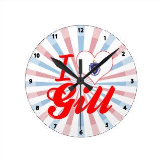 I Love Gill, Massachusetts Wall Clock