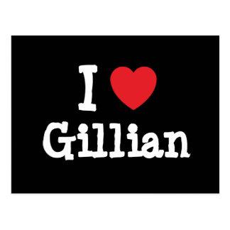 I love Gillian heart T-Shirt Postcard