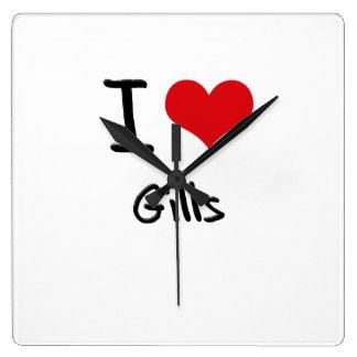 I Love Gills Square Wallclock