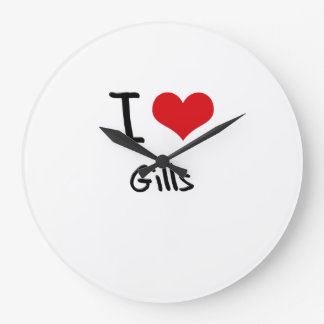 I Love Gills Wall Clock
