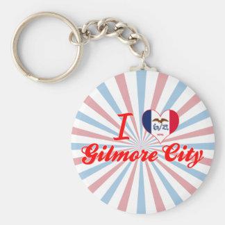 I Love Gilmore City, Iowa Keychains