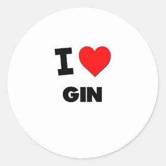 I Love Gin Classic Round Sticker