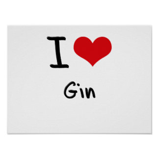 I Love Gin Poster