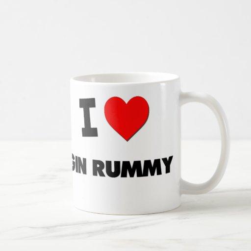 I Love Gin Rummy Classic White Coffee Mug