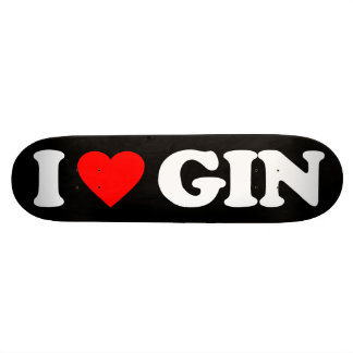 I LOVE GIN SKATEBOARD DECK