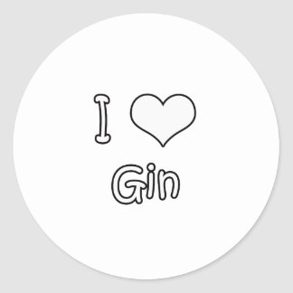 I Love Gin Stickers