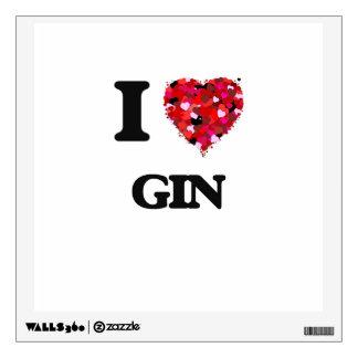 I Love Gin Wall Graphics