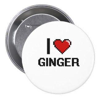 I Love Ginger 3 Inch Round Button
