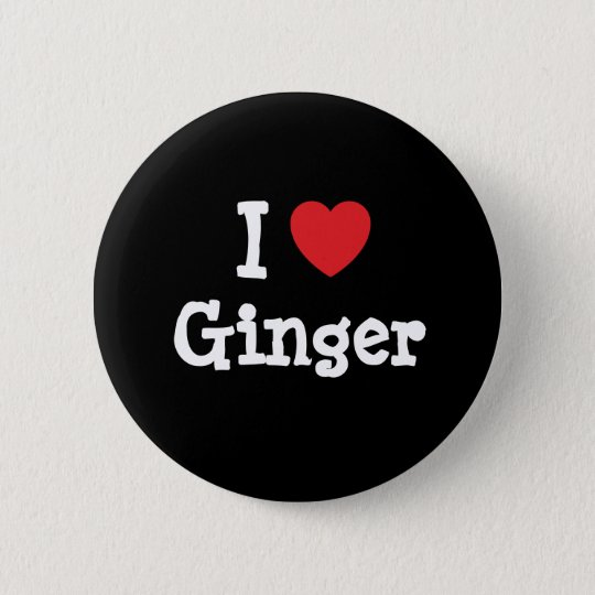 I love Ginger heart T-Shirt Pinback Button