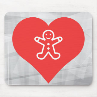 I Love Gingerbread Cookies Icon Mouse Pad