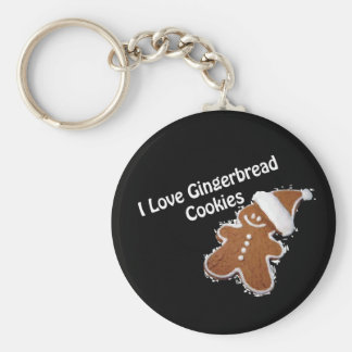 i love gingerbread cookies keychain