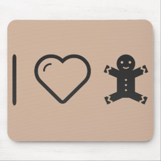 I Love Gingerbread Cookies Mouse Pad