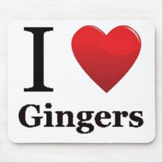 I Love Gingers Mousepad
