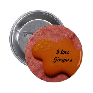 I love gingers pinback button