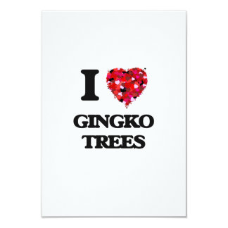 I love Gingko Trees 3.5x5 Paper Invitation Card