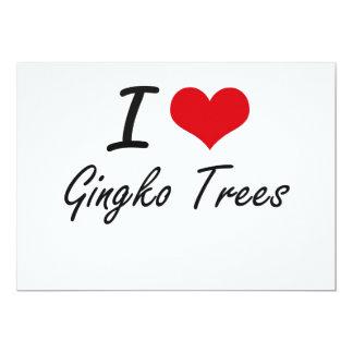I love Gingko Trees 5x7 Paper Invitation Card
