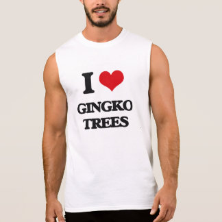 I love Gingko Trees Sleeveless Shirts